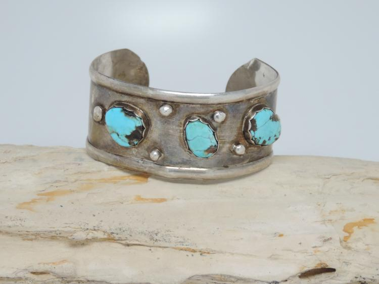 OLD PAWN Sterling Silver Native American Turquoise Jewelry Navajo / Hopi / Zuni Indian May 23, 2015