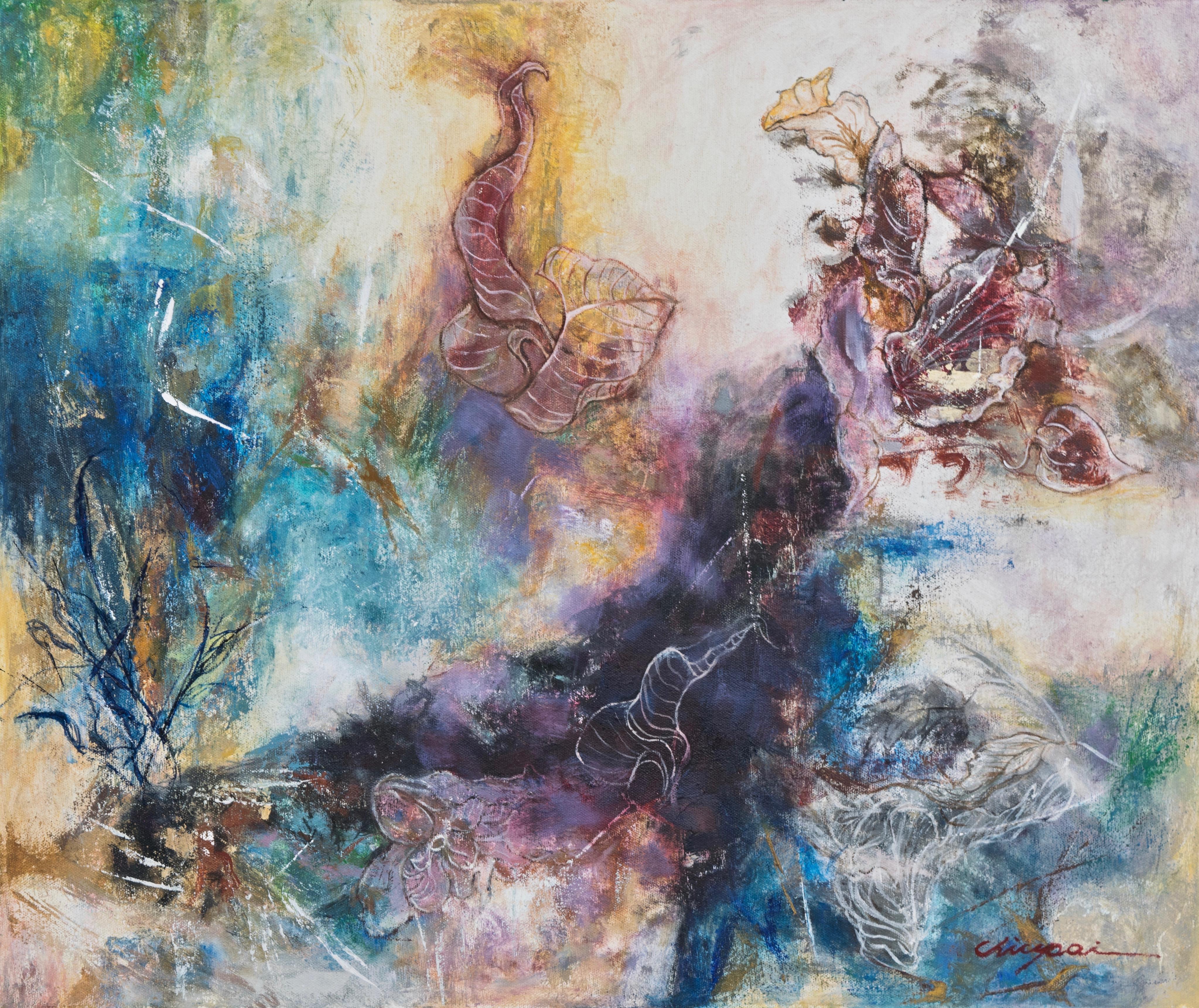 """Lot 01: Chiu Pai, AFTER RAINS (2017), Oil on canvas, 20 x 24"""" Estimate: $1000-1500"""
