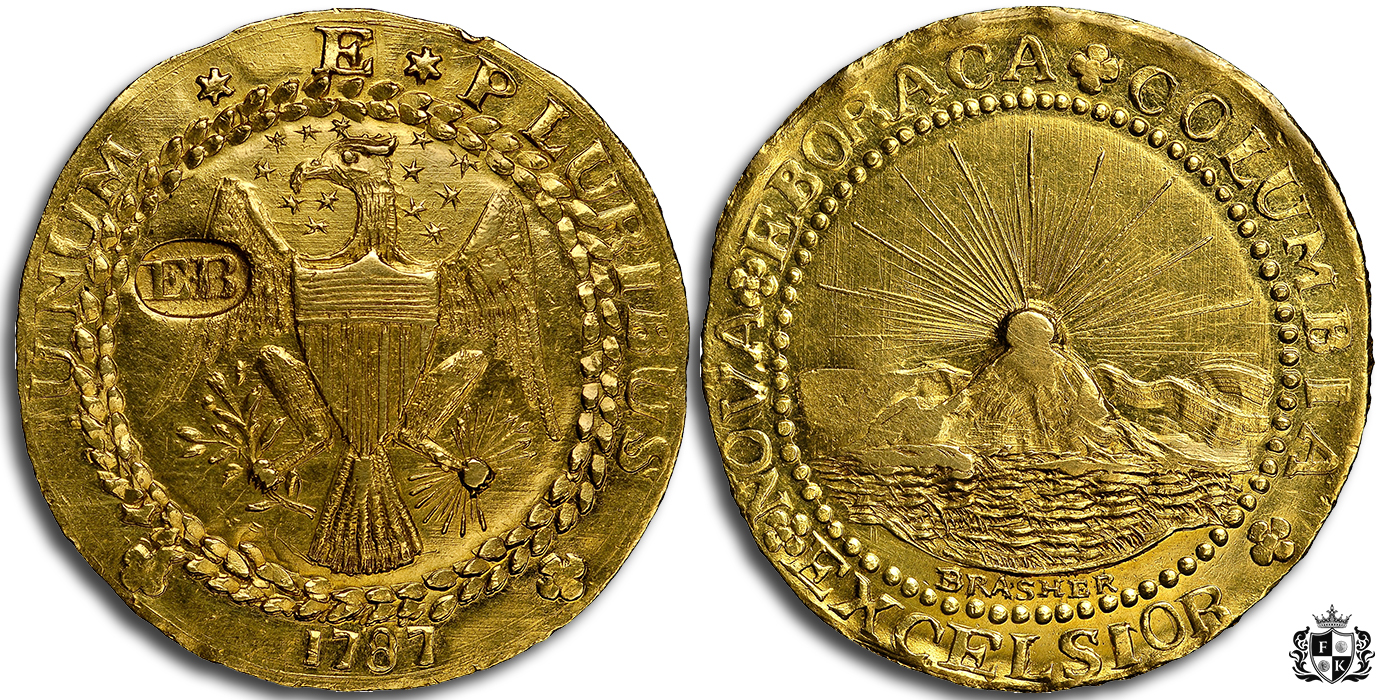 1787 Brasher Doubloon, America's First Gold Coin