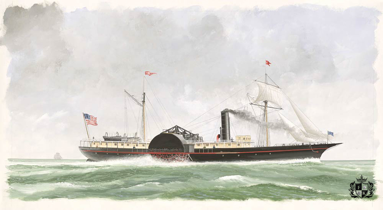 Civil War Side-wheel Steamer, SS Republic Sank off The Coast of Georgia in a Hurricane in 1865