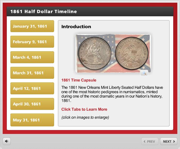 Finest-Known_1861-O-Half-Dollar-Timeline-Interaction