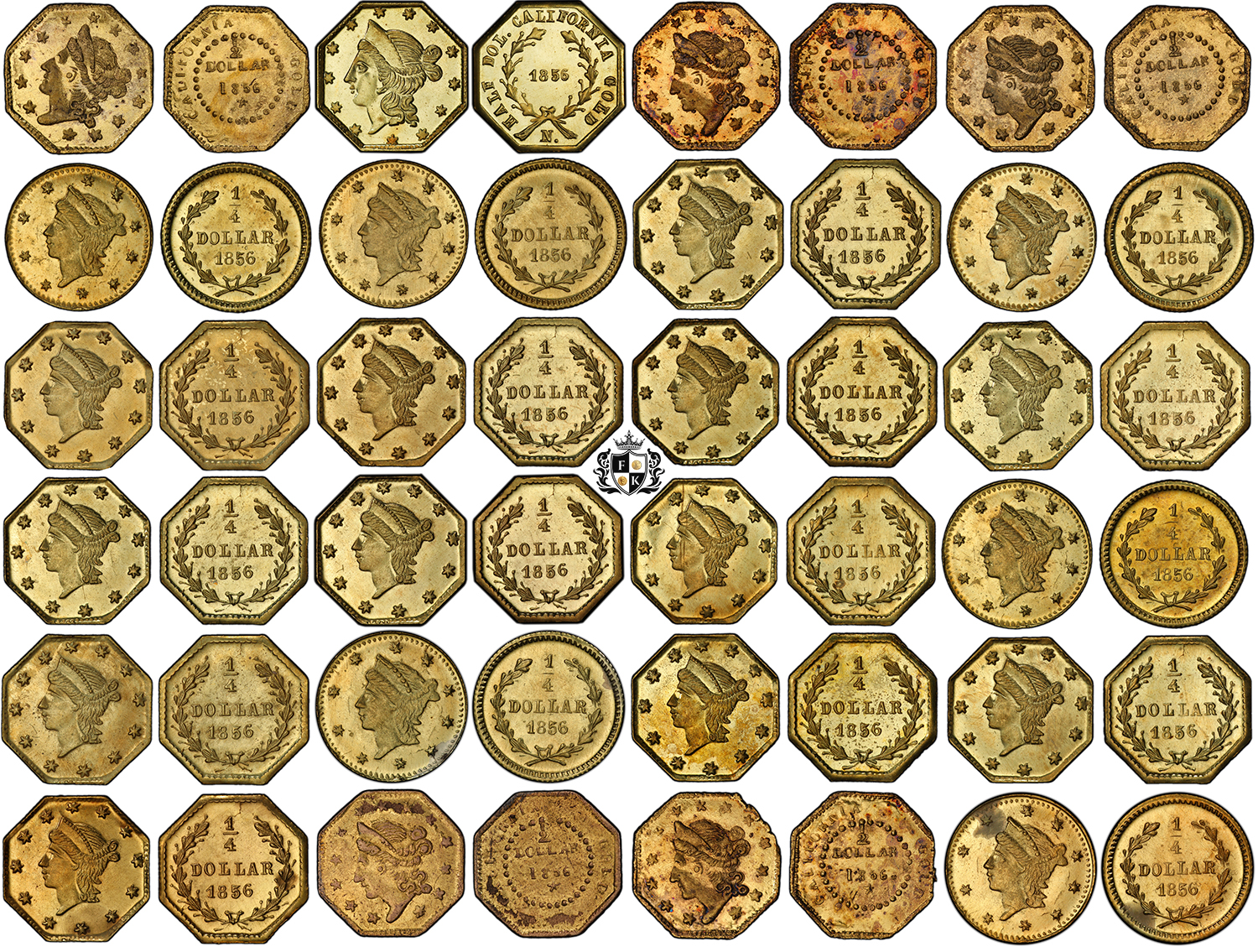 Finest-Known_California-24-Fractional-Gold-Coins