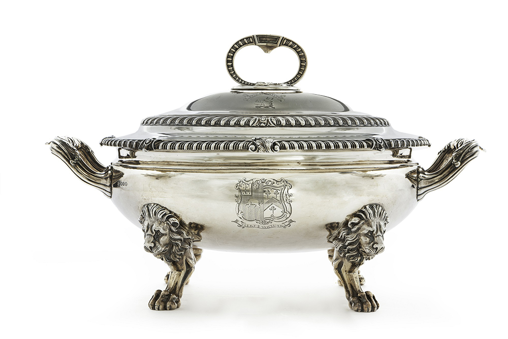 Hotly Contested Lots Were Of Silver By A Variety Of European & American Makers