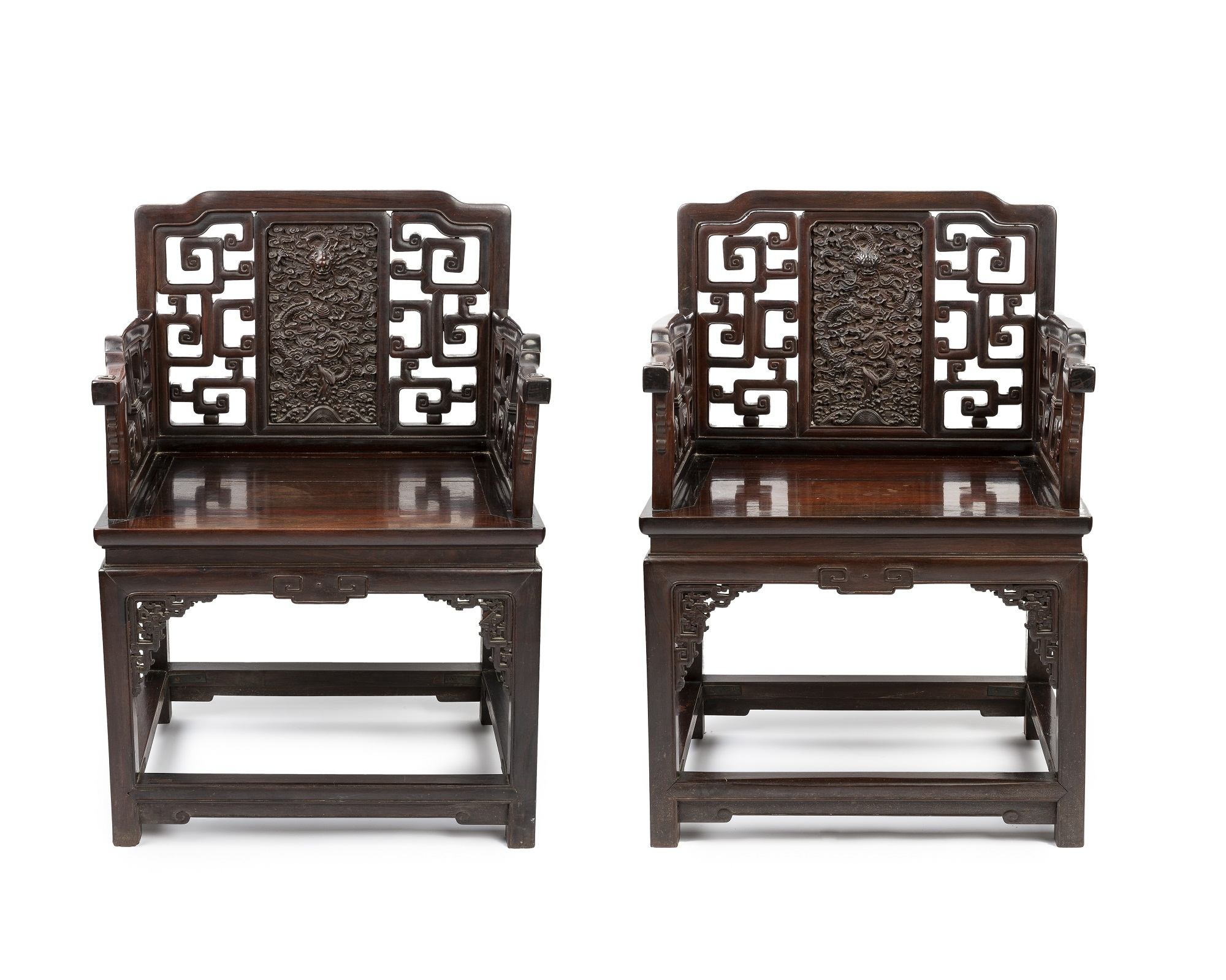 A pair of Chinese hardwood chairs sell for $375,000 at auction