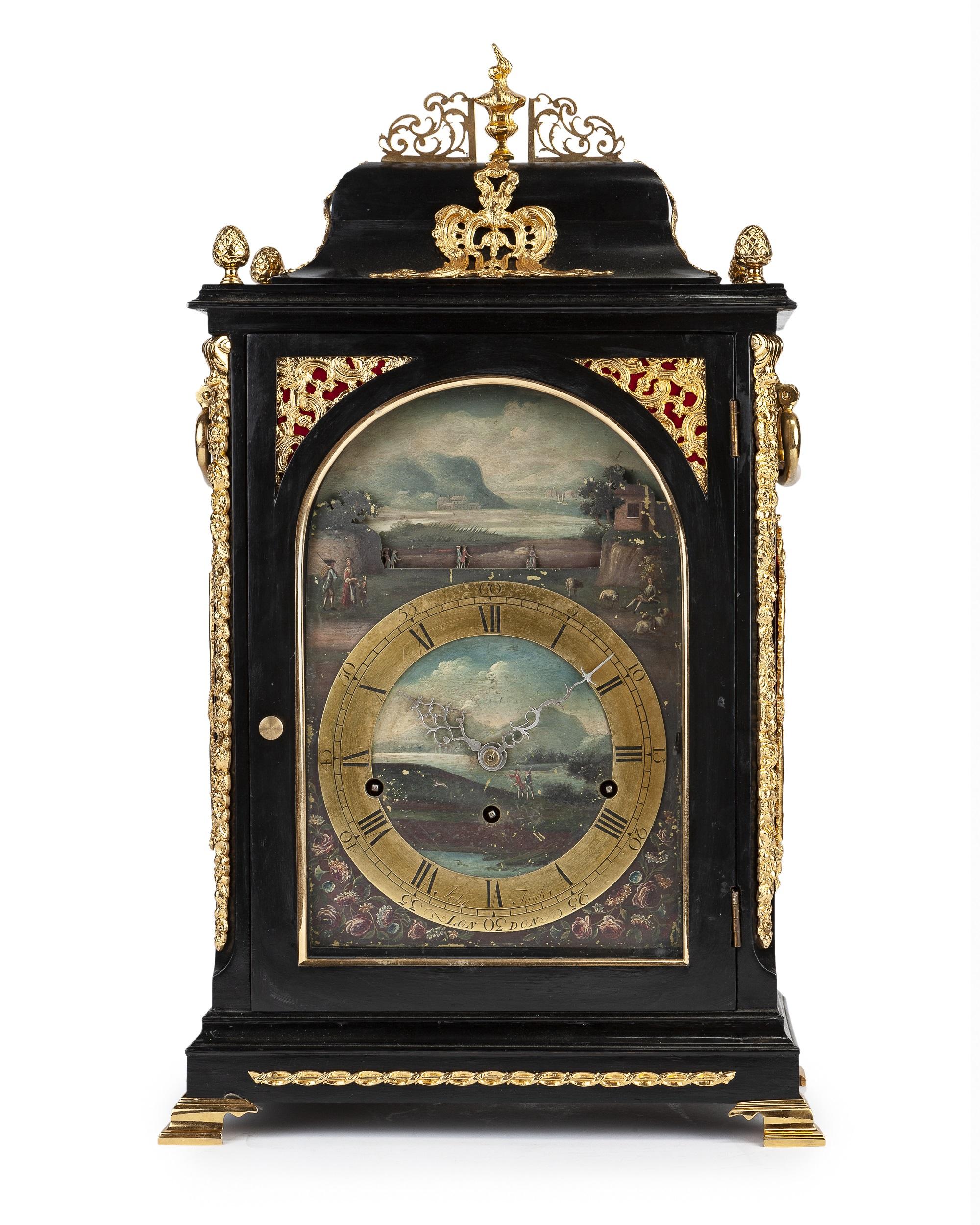 A Georgian musical automaton bracket clock