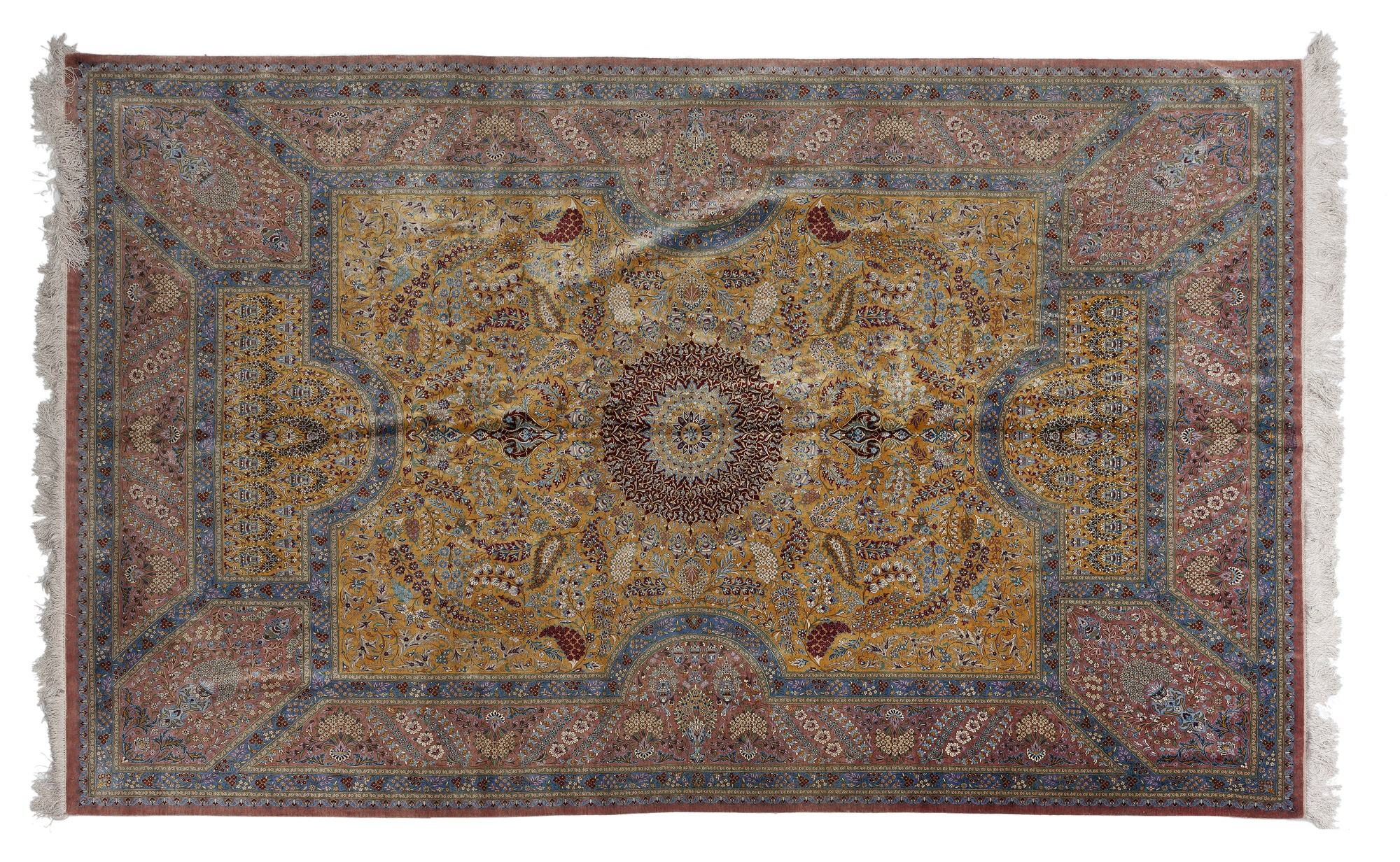 A silk Persian rug