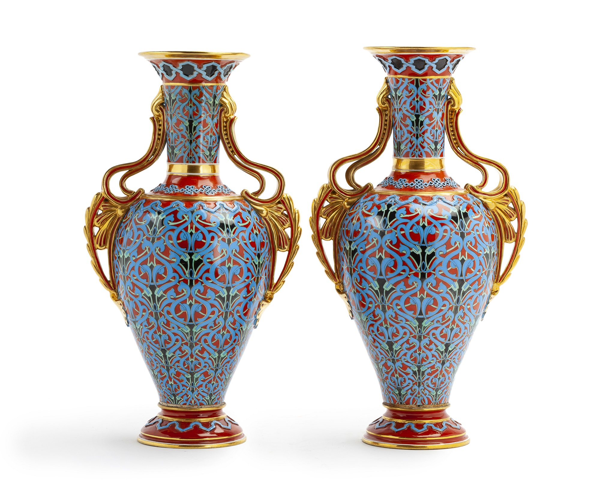 A pair of Russian Imperial porcelain vases
