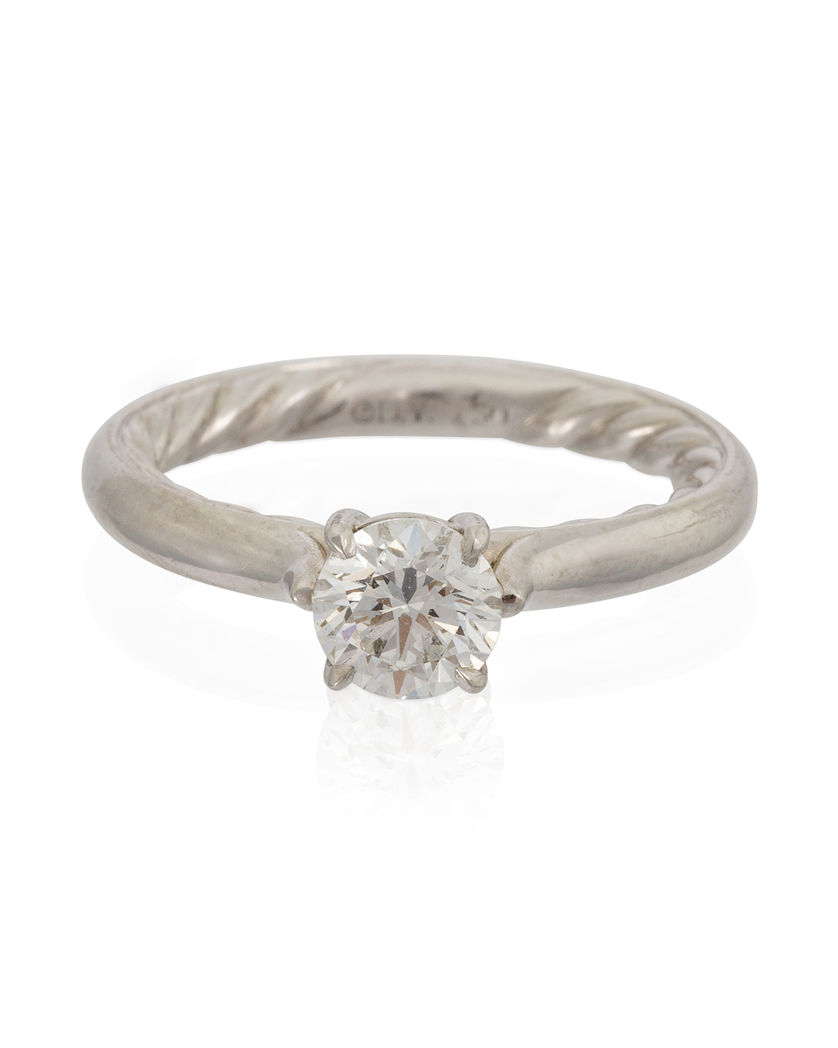 A single stone diamond ring, David Yurman