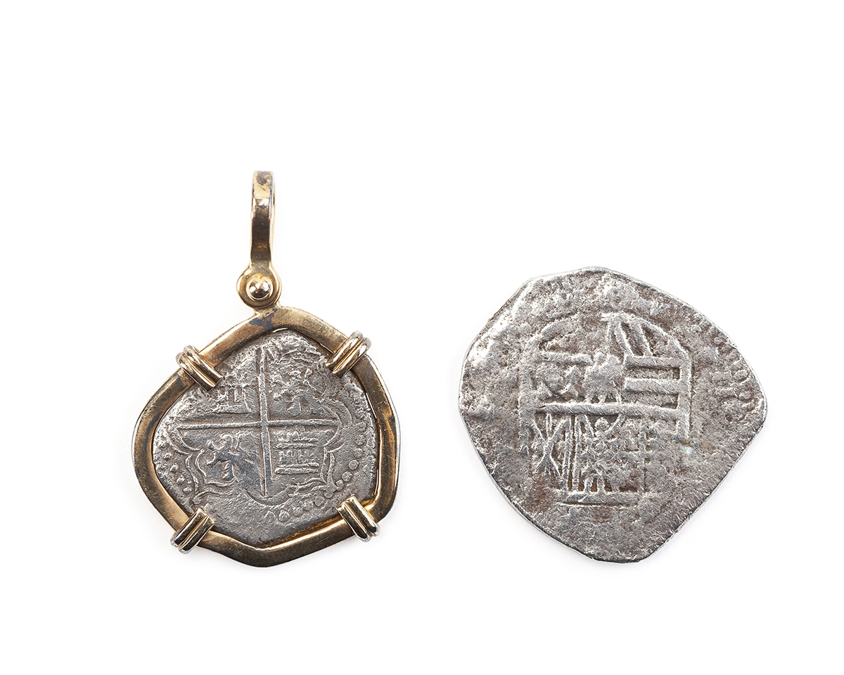 Two Spanish silver coins from the Nuestra Senora de Atocha wreck