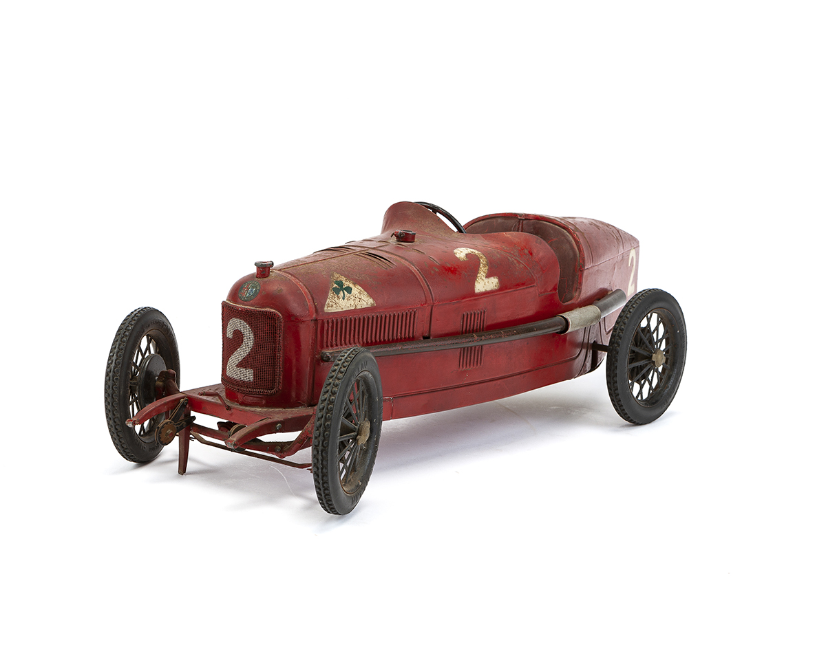A French tin Alfa Romero P2 toy car