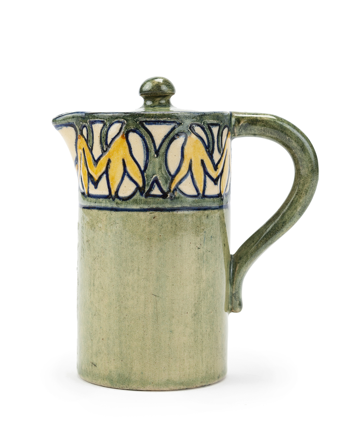 A Newcomb College lidded cream pitcher