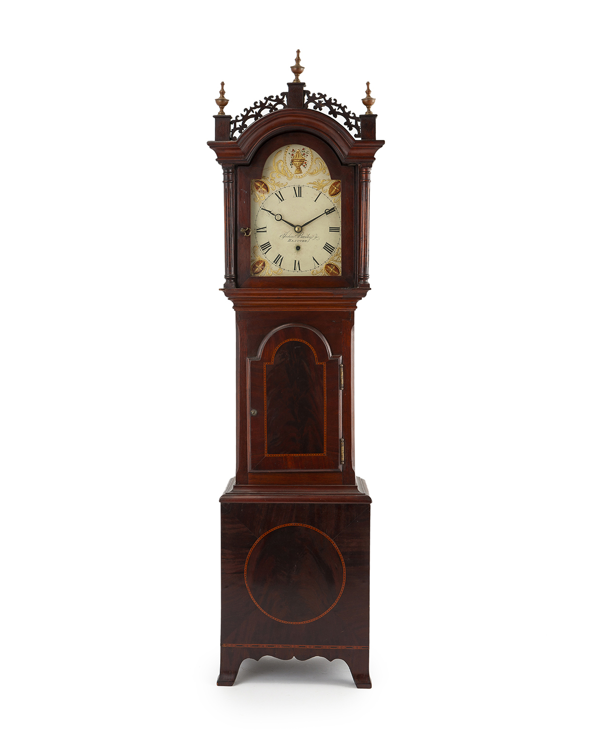 An American diminutive tall case clock