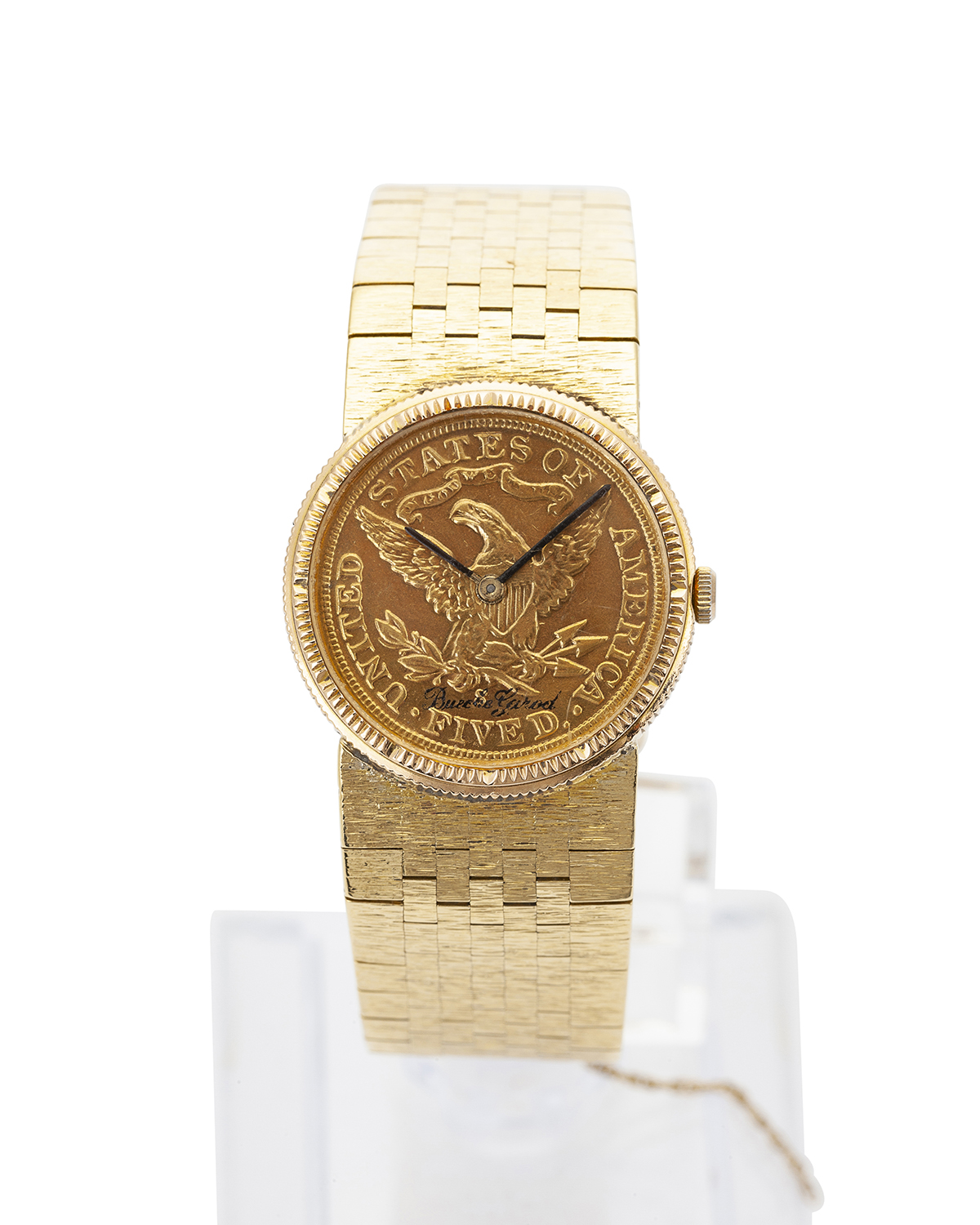 An 18K gold coin watch, Bueche Girod