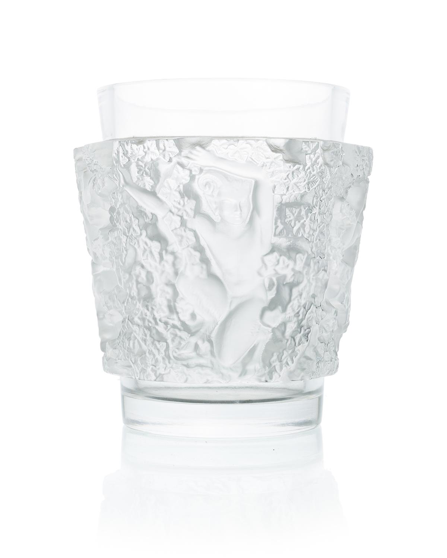 """A Lalique art glass """"Bacchus"""" vase"""