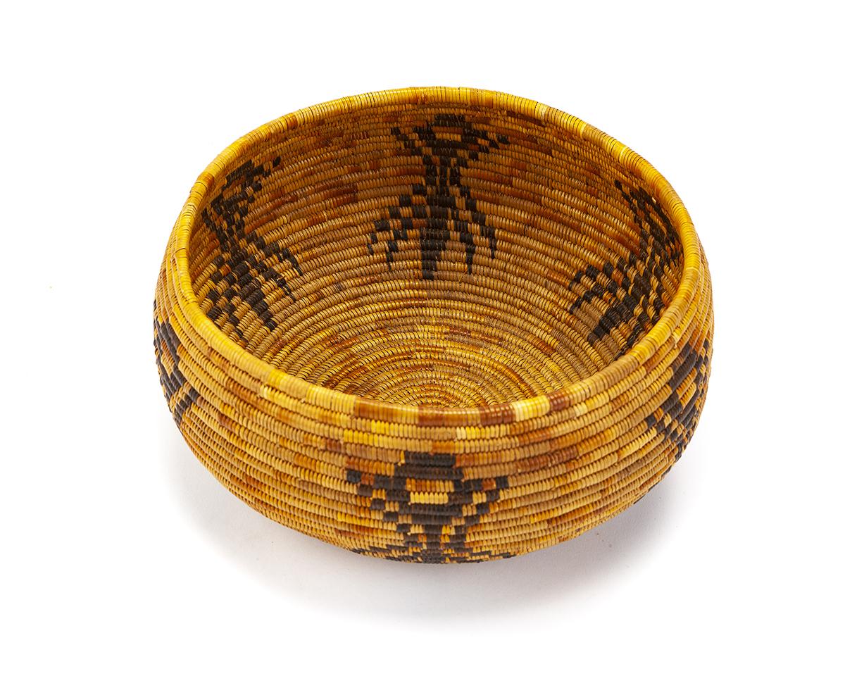 A Cahuilla Mission spider basket