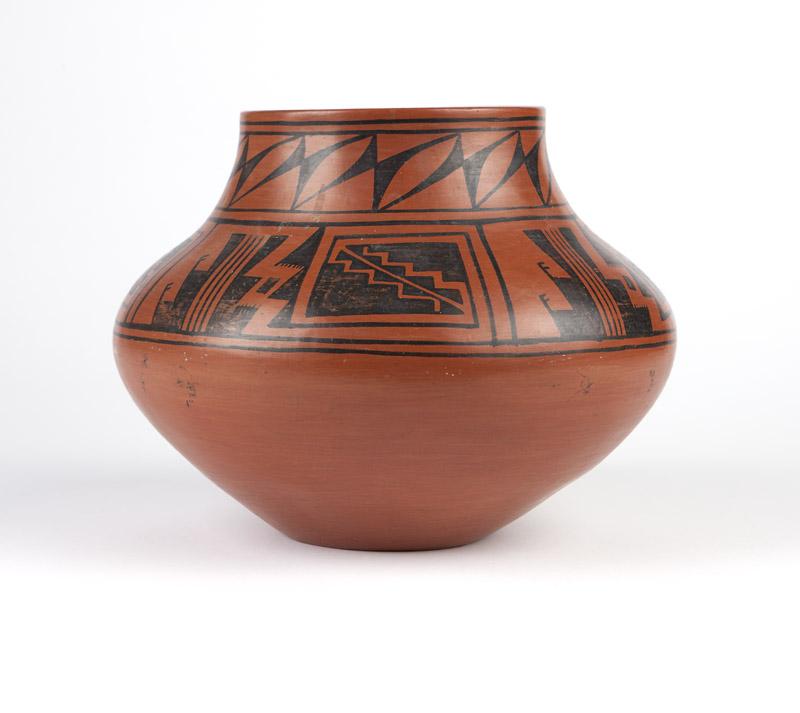 A Tonita Roybal San Ildefonso pottery olla