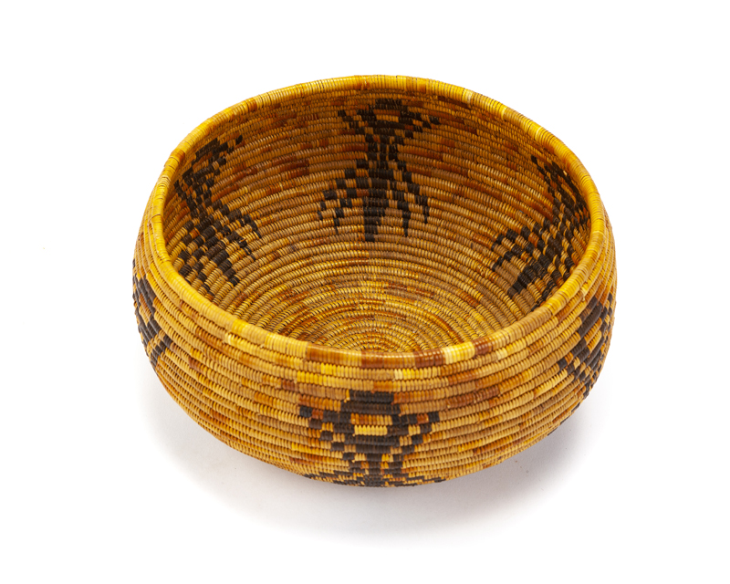 A Cahuilla Mission spider basket
