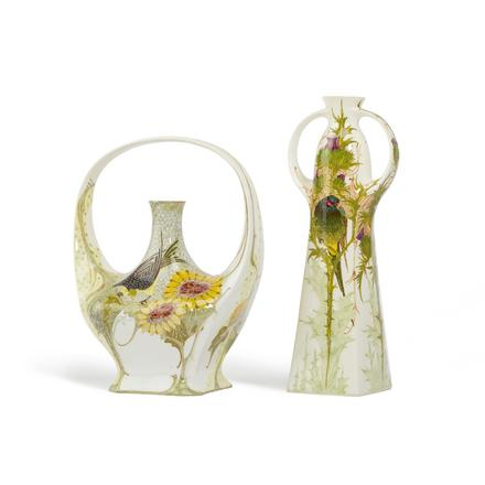 Two Rozenburg vases