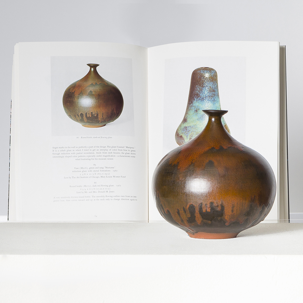 Vase, 1951. Earthenware volcanic/crater glaze in cream and brown. Estimate: $15,000/20,000