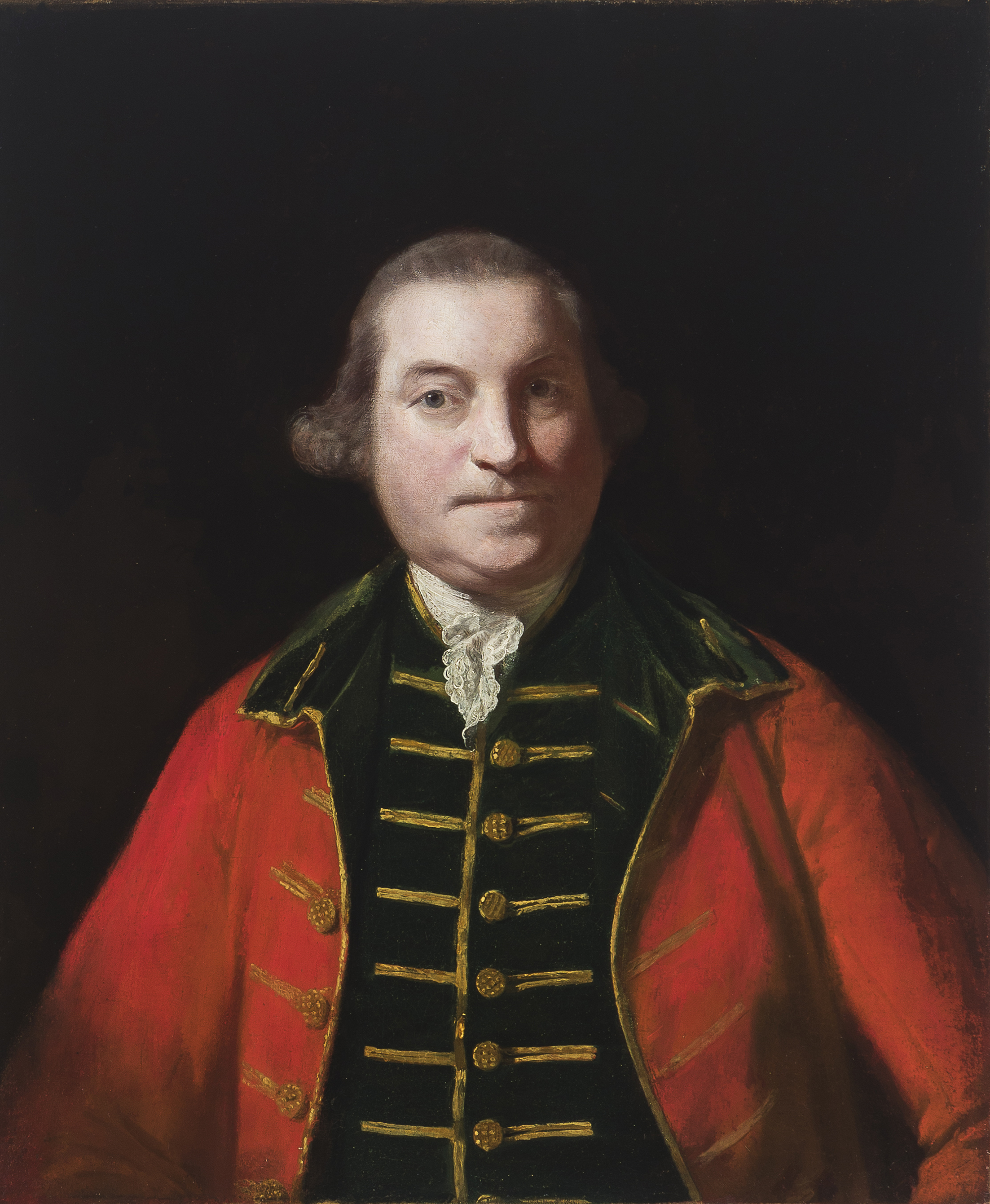 Sir Joshua Reynolds (1723-1792 British) Portrait of an officer, Oil on canvas laid to canvas, $15,000-25,000