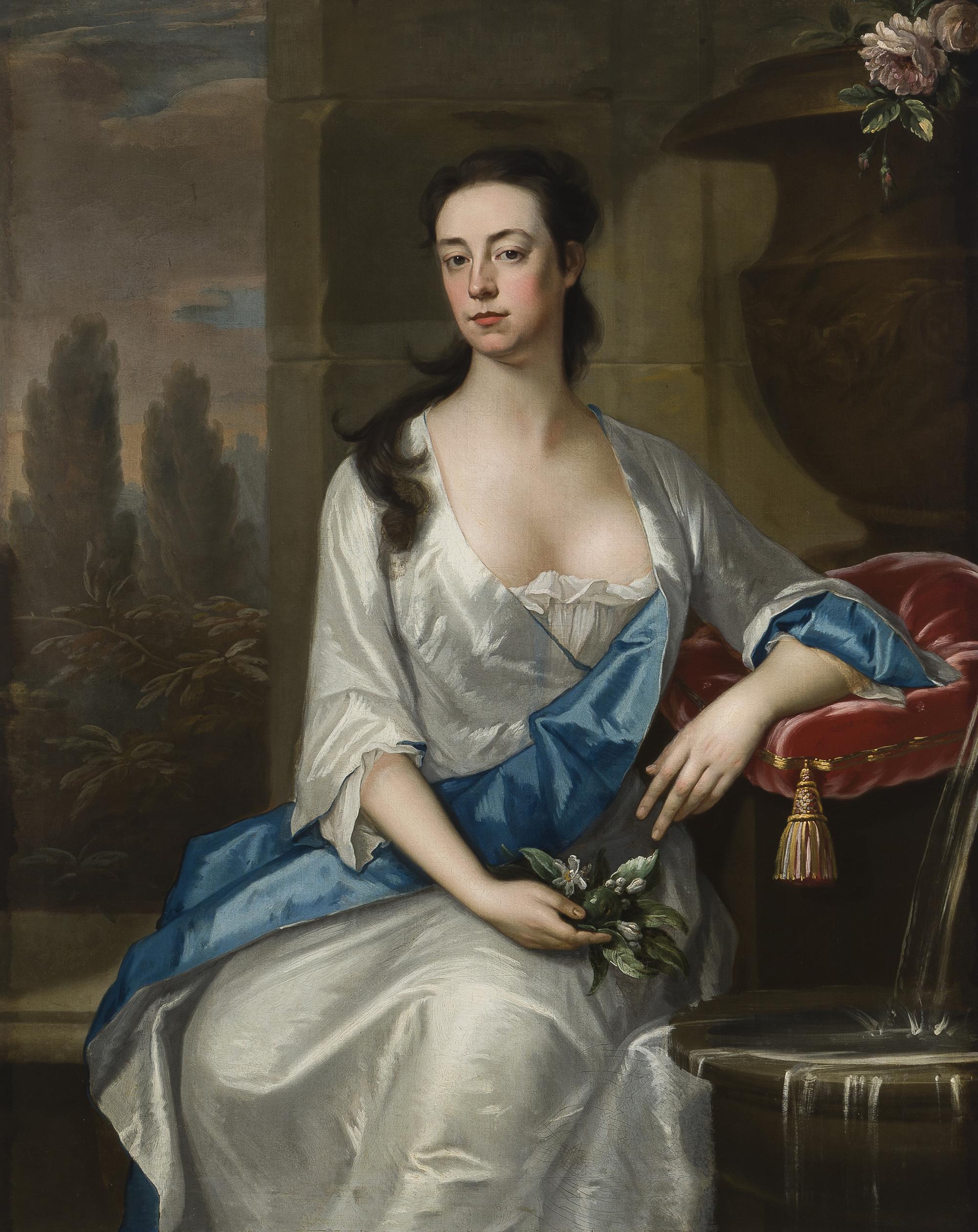 Michael Dahl (1659-1743 Swedish), Portrait of Mary Parker, Oil on canvas laid to canvas, est: $12,000-18,000