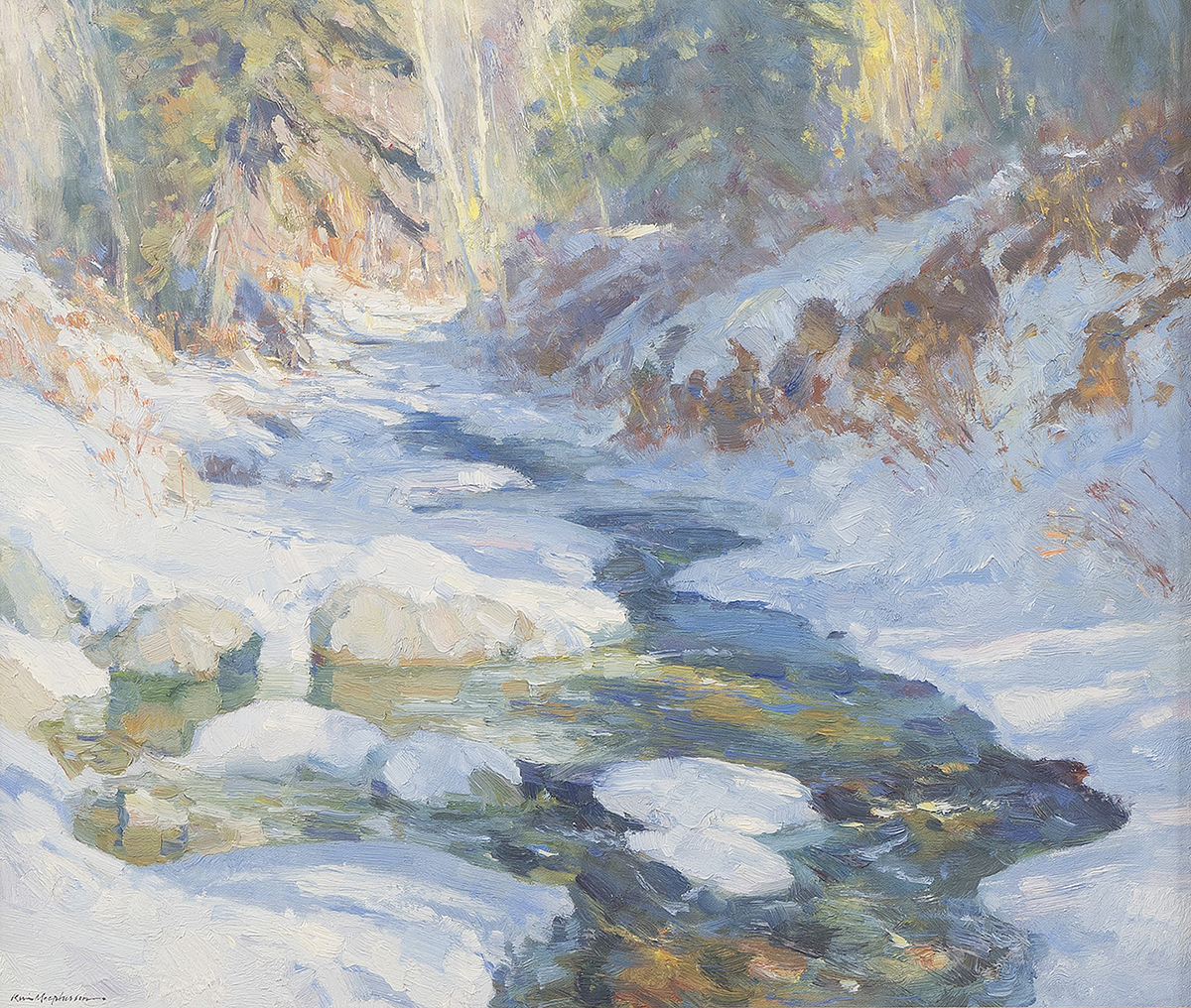 "Kevin Macpherson, (1956-* Escondido, NM), ""Winter Brook"""