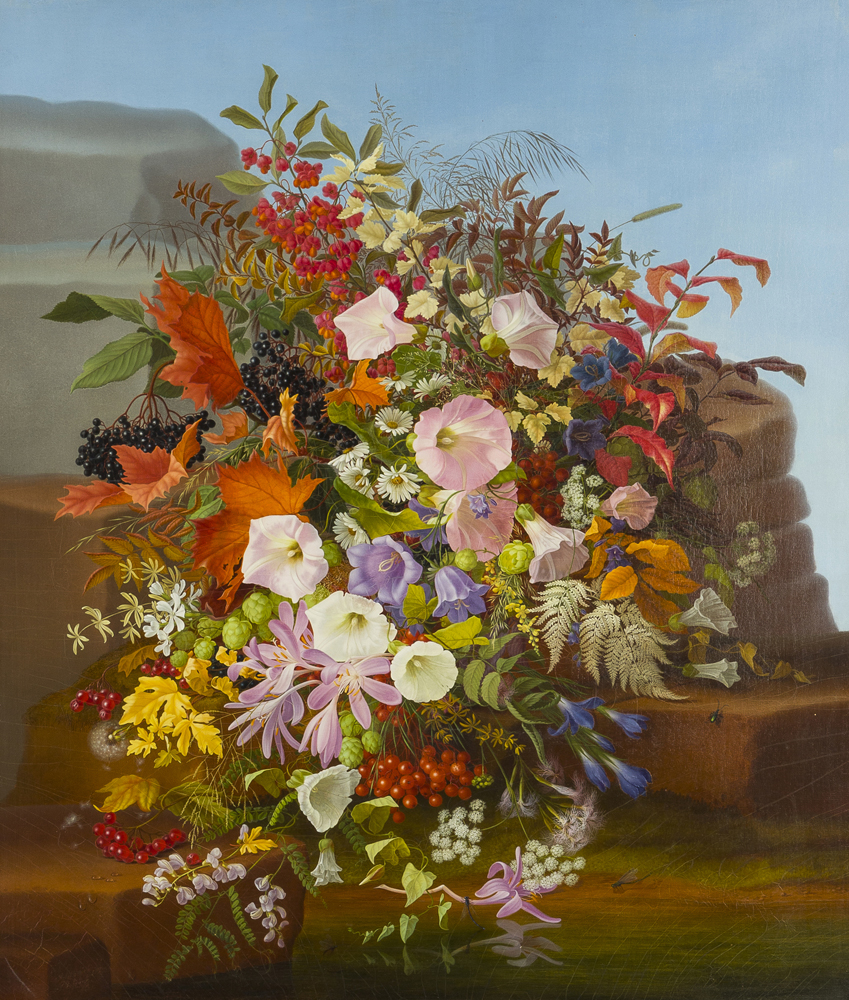 Adelheid Dietrich (1827-1891 German), Autumn flowers