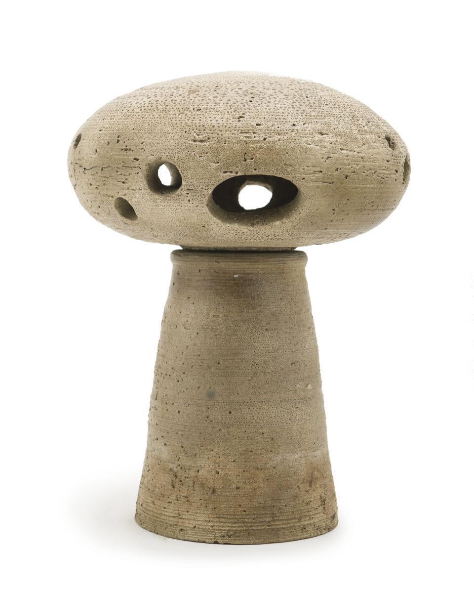 A studio pottery garden sculpture