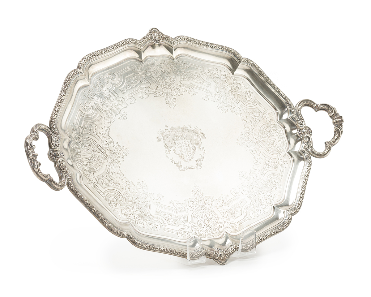 An English Sterling Serving Tray