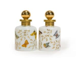 Lot# 1098, A near pair of French vanity bottles, est: $800-1,200