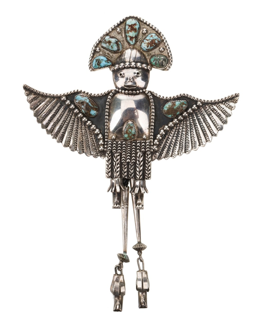 A Navajo eagle dancer bolo