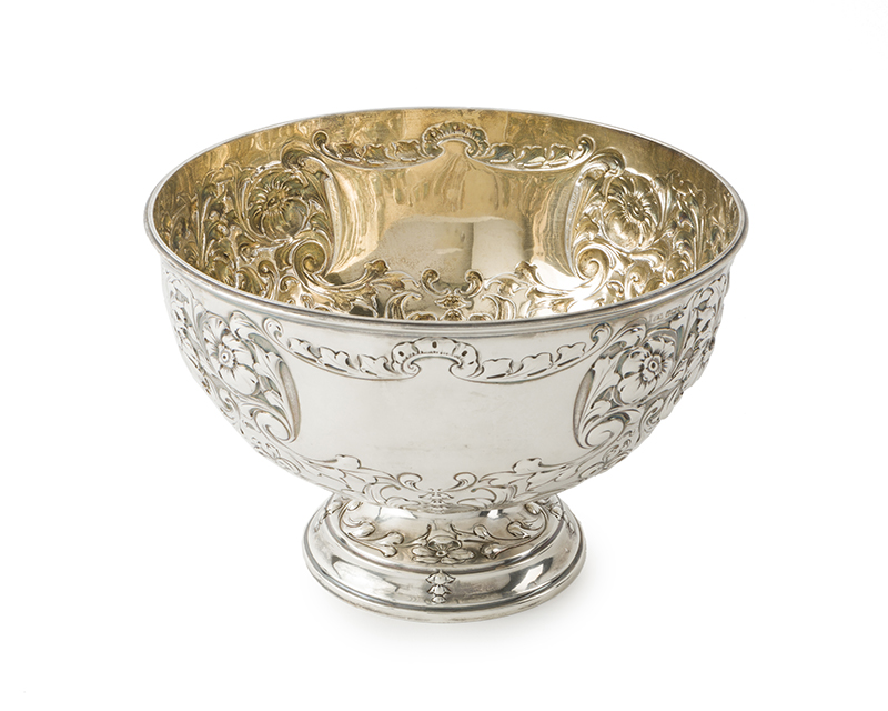An English sterling silver centerpiece bowl