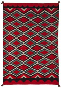 Lot 74, A large Navajo Germantown weaving, price realized: $12,500