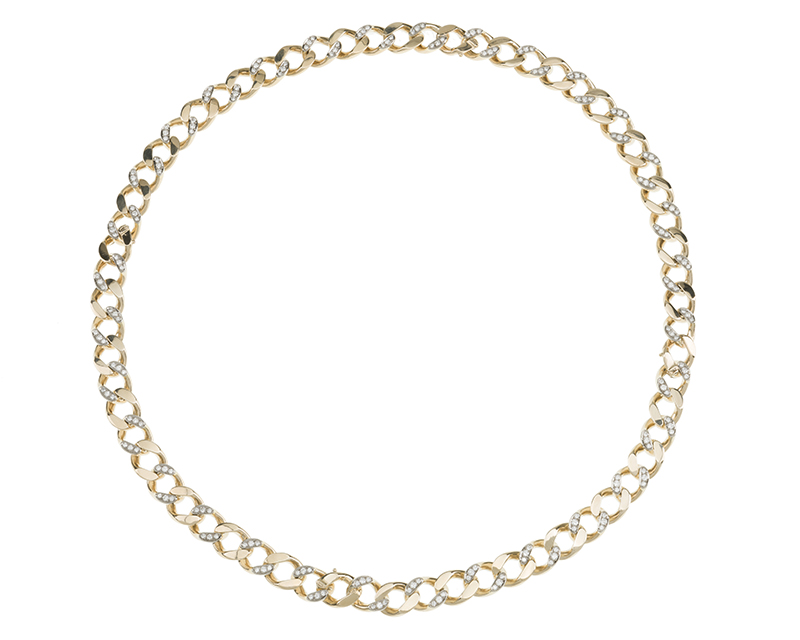A diamond convertible necklace