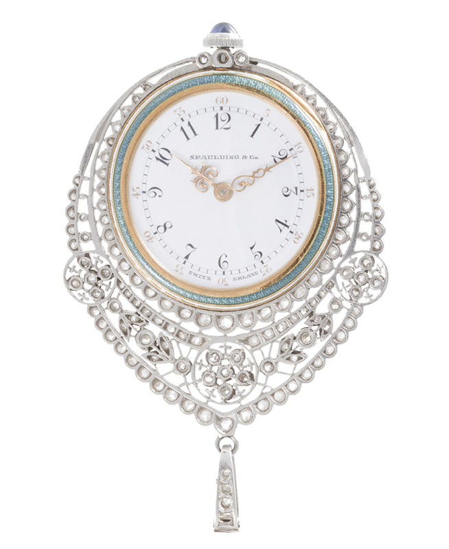 An Edwardian Patek Philippe for Spaulding & Co. pendant watch