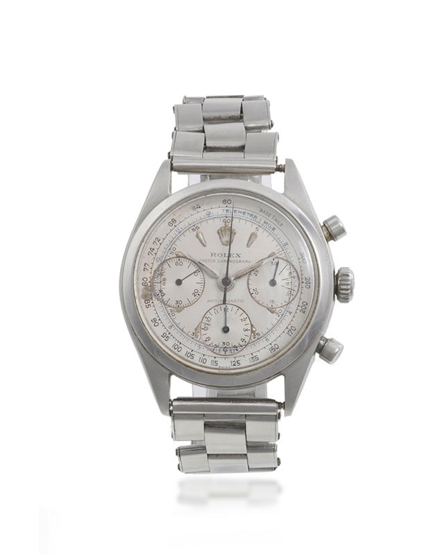 A Rolex stainless steel chronograph wristwatch