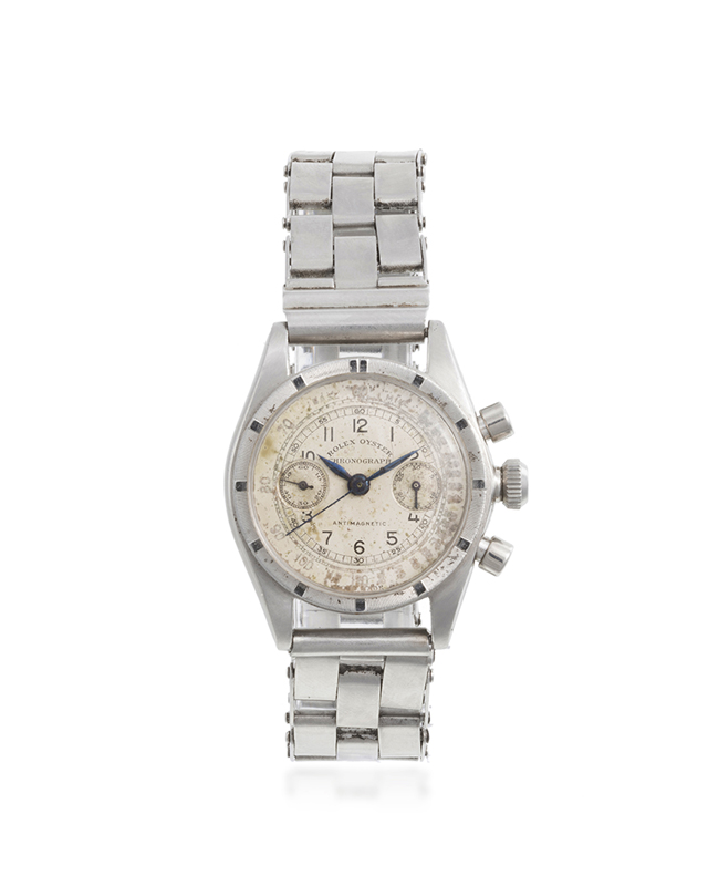 A rare Rolex stainless chronograph wristwatch