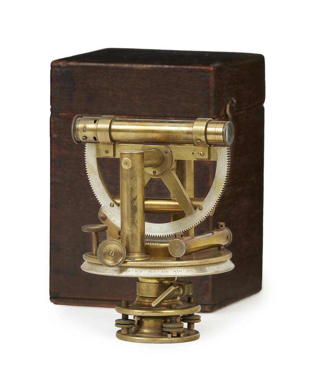 A Thomas Jones brass theodolite