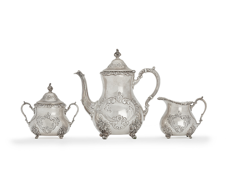 A Poole Sterling Coffee set, 3 pcs