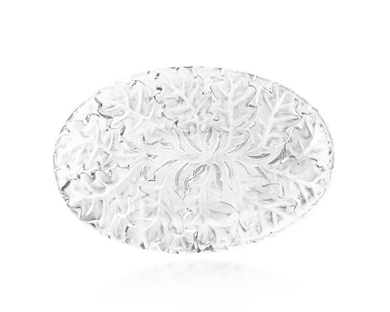 """A Lalique """"Chene"""" platter"""