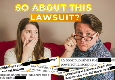 AudioShelf Talk: A Huge Book Lawsuit No One Saw Coming