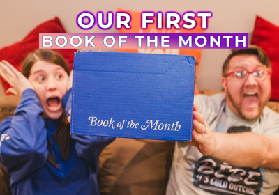 Our first Book of the Month subscription box!