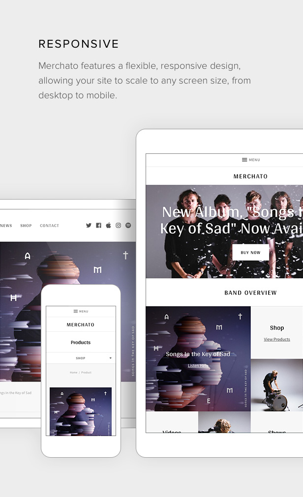 Merchato responsive layout design