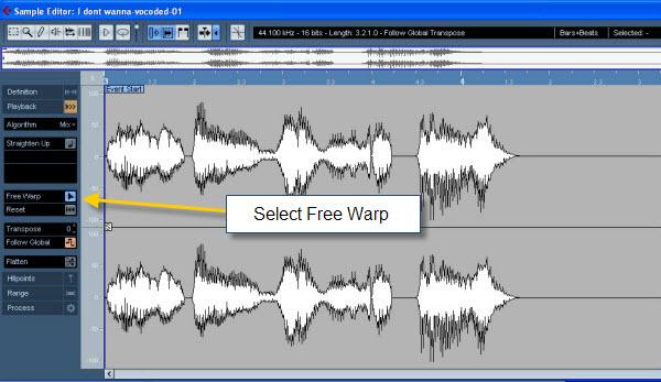 Audio Warping in the Cubase 4 Sample Editor