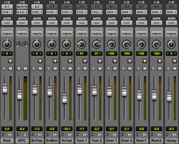 pro tools bus routing
