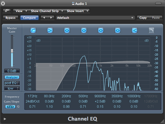 studio one how to add effects to section of audio