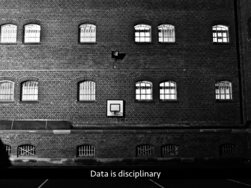Text: Data is disciplinary