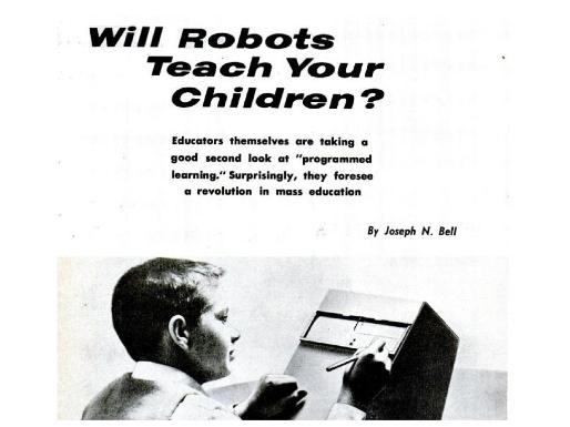 Robôs ensinarão seus filhos?