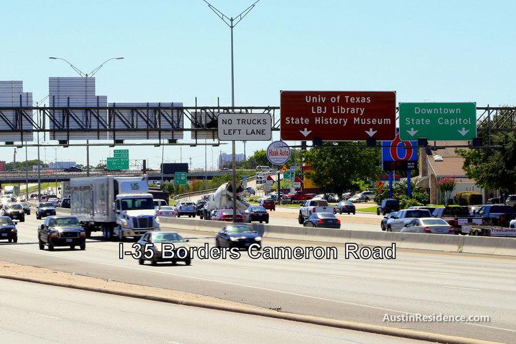 Cameron Road I-35 UT Austin Sign