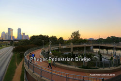 Downtown Austin Pfluger Pedestrian Bridge Spiral Ramp
